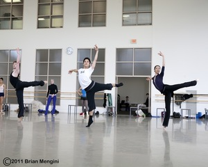 dance ballet class dancers working ballet