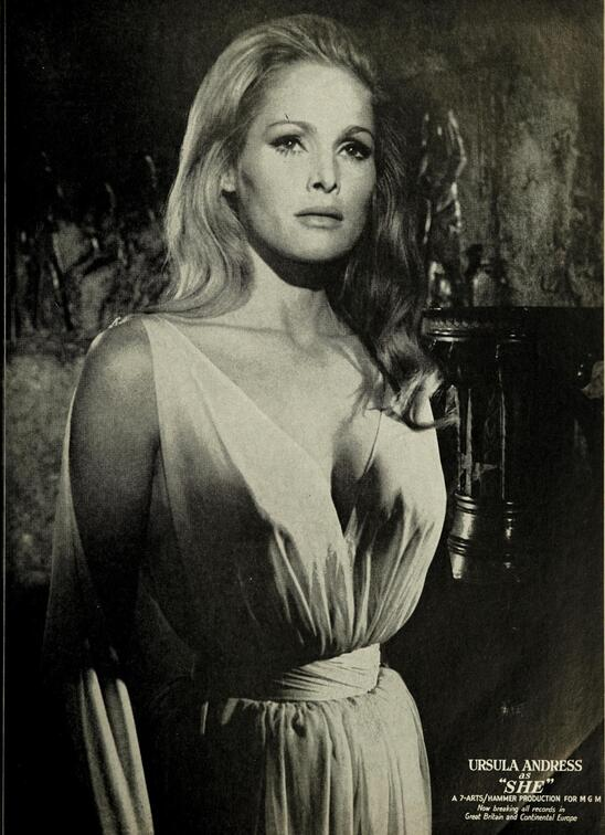 URSULA ANDRESS SHE BOX OFFICE USA 1965