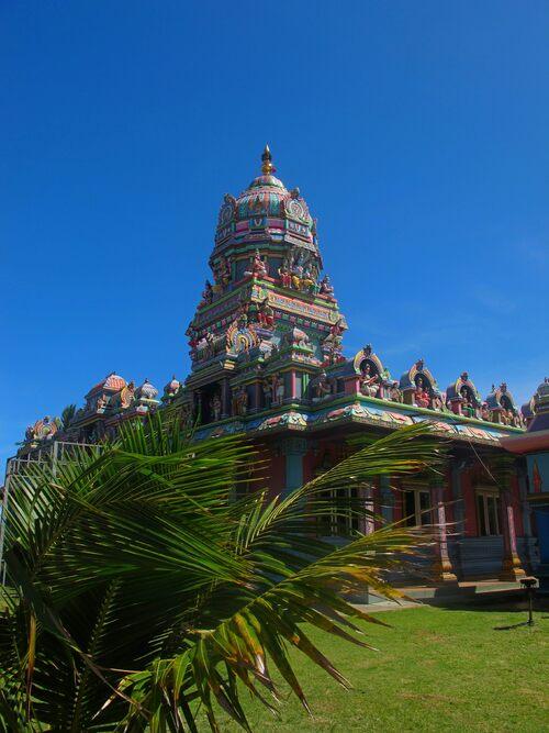 temple tamoul, quartier de la Ravine Blanche, à Saint Pierre, Ile de la Réunion