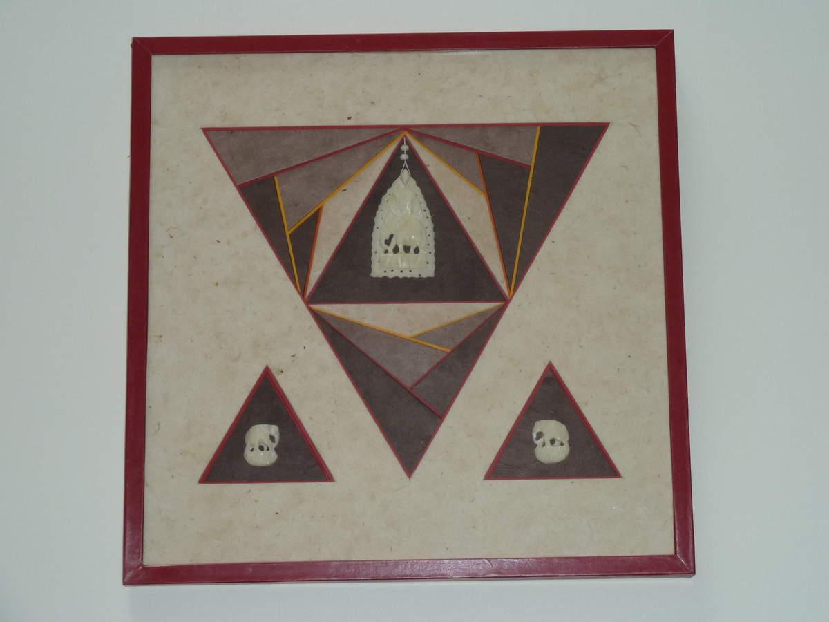 Drapé en triangle avec écoinçons et petits éléphants