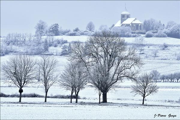 """""""Neige à Poinçon les Larrey"""" de très belles photos de Jean-Pierre Gurga"""
