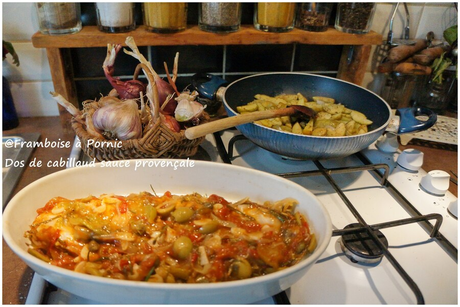 Dos de cabillaud à la sauce provençale