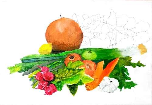 Légumes et papillon pas à pas 3