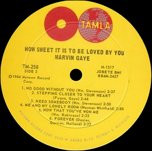 "Marvin Gaye : Album "" How Sweet It Is "" Tamla Records TM 258 [ US ]"