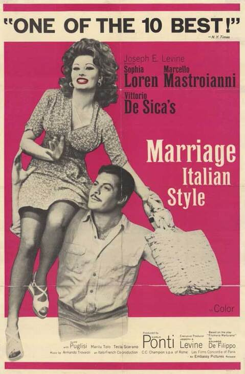 MARRIAGE ITALIAN STYLE BOX OFFICE USA 1965