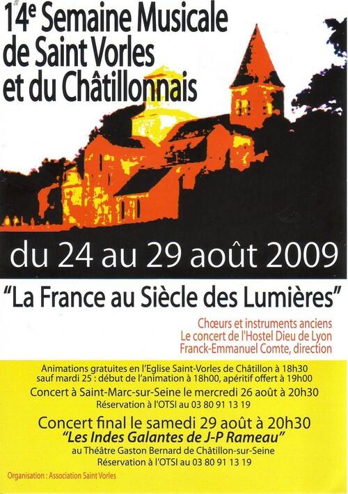 La 14ème Semaine Musicale de Saint Vorles et du Châtillonnais