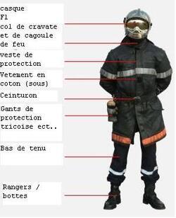 Tenue de sapeur pompier