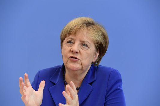 La chancelière allemande, Angela Merkel, pendant une conférence de presse à Berlin, le 28 juillet 2016.