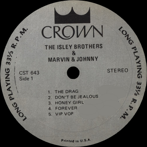 "The Isley Bros. And Marvin & Johnny : Album "" The Isley Brothers And Marvin & Johnny (1963) "" Crown Records CST 643 [ US ]"