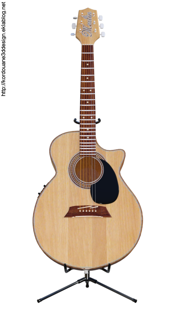 Tube guitare acoustique (render-image)