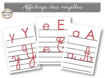 """Affichage pour l'écriture des lettres - distinction """"voyelles/consonnes"""""""