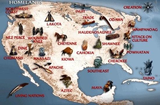 Carte Indiens Amerique Du Nord.Cartes De Localisation Des Nations Amerindiennes Les