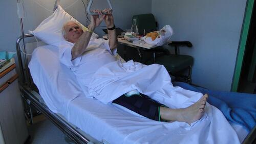 Jean-Paul à l'hôpital de Figeac