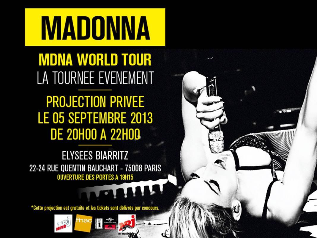 MDNA World Tour - Projection Privée Paris