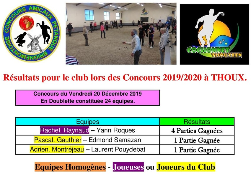 4ième Concours du Vendredi à Thoux