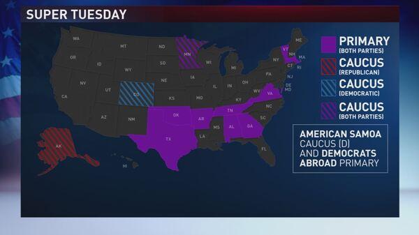 Hier, Super Tuesday des élections présidentielles aux USA