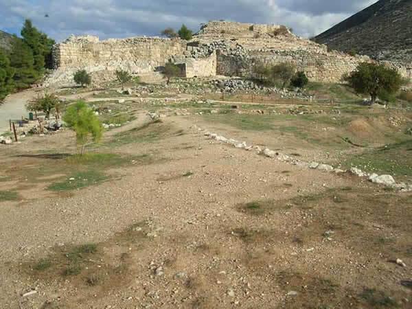 Vestiges du palais d'Agamemnon à Mycenes