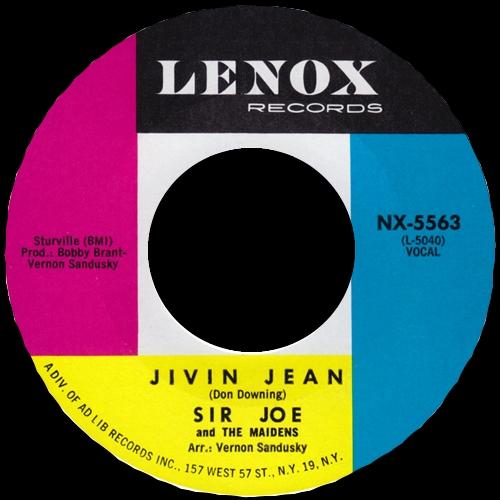 1963 : Sir Joe & The Maidens : Single SP Lenox Records NX 5563 [ US ]