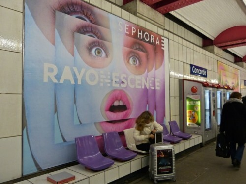 Sephora affiche jeu mots rayonescence