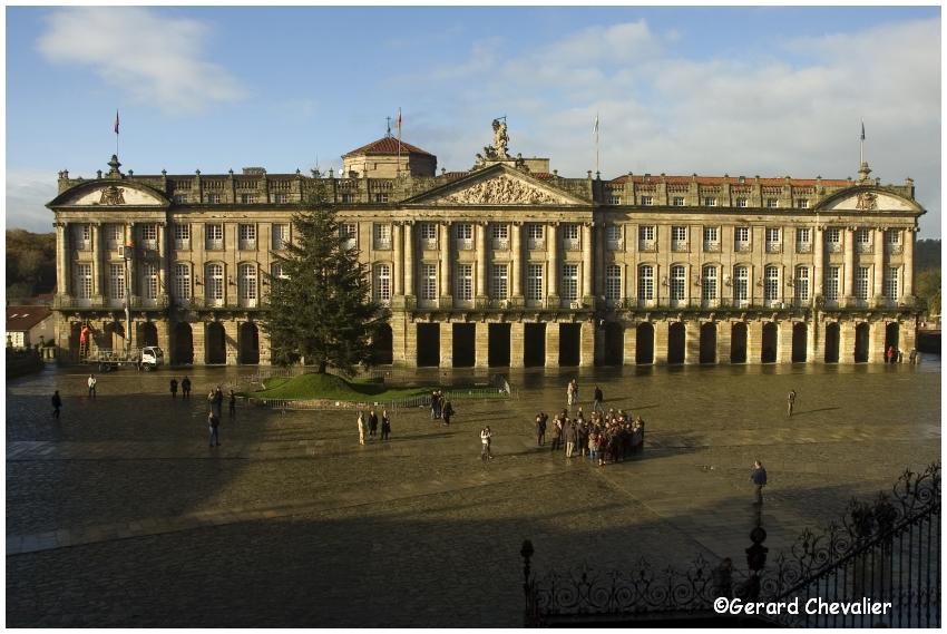 Santiago de Compostela  - Le Palais de Raxoi