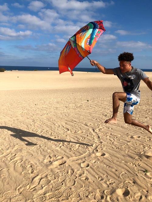 Ombrelles à Fuerteventura
