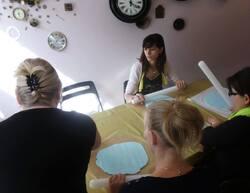 """Atelier """"Initiation à la pâte à sucre"""" chez Milypat à Tournai le 24.8.14"""