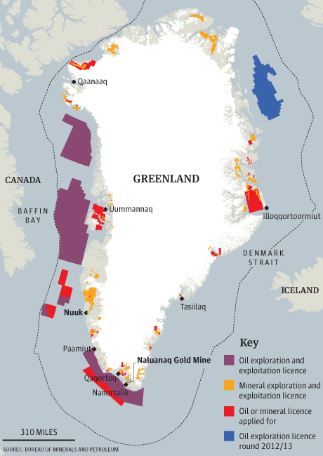 Le Groenland accorde une grande concession dans le fer et dit oui à l'uranium