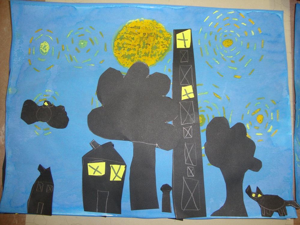 Turbo Une nuit étoilée façon Van Gogh - Une année au CP - mathématiques  UV54
