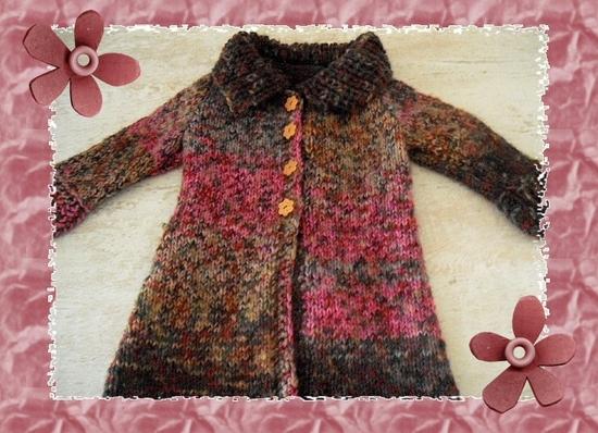 manteau bariolé fini