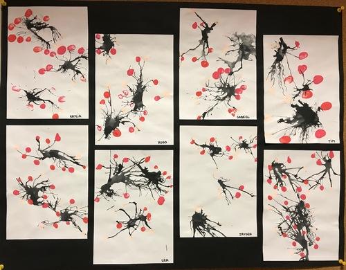 A la manière de la peinture japonaise traditionnelle