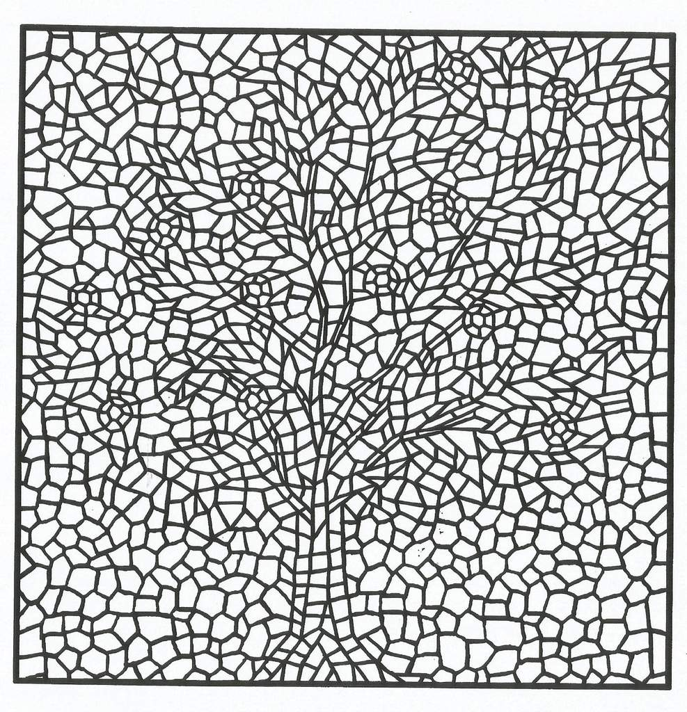 Mosaique Arbre En Fleurs Domandalas