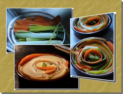 Clafoutis carotte & poireau