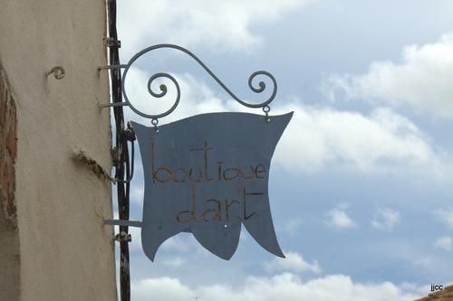 Enseigne à Bages dans l'Aude (01 2016)