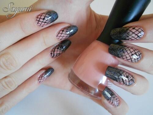 Nail Art Gradient style Dentelle