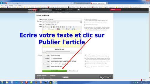 INSERER UN CODE HTML dans un article sur Eklablog ou Centerblog
