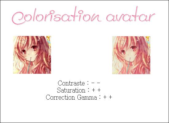 Colorisation - avatar