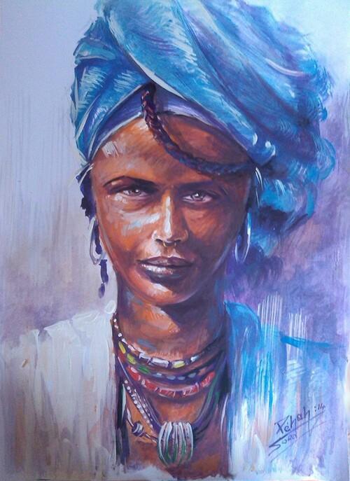 Femme de l'Afrique de l'Est