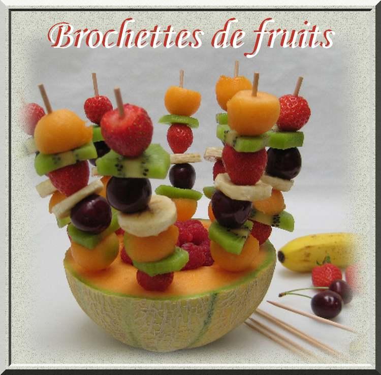 Recette de cuisine : Brochettes de fruits