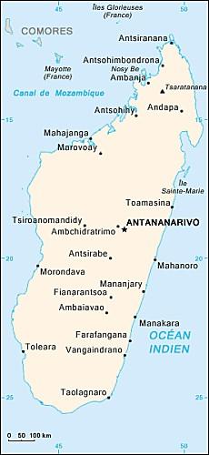 Madagascar-carte