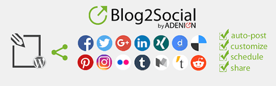Blog2Social provides you with a ready to use social media scheduler