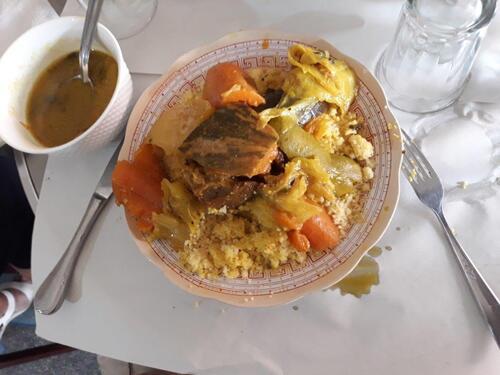 Notre assiette de couscous