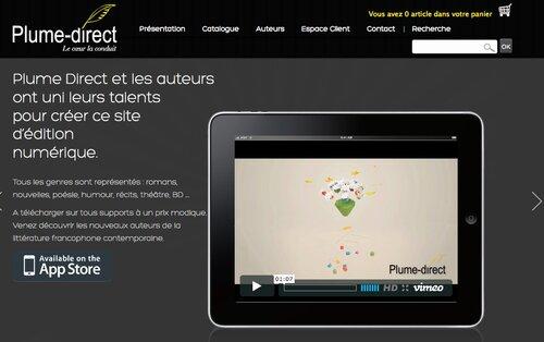Plume direct : une maison d'édition numérique à découvrir