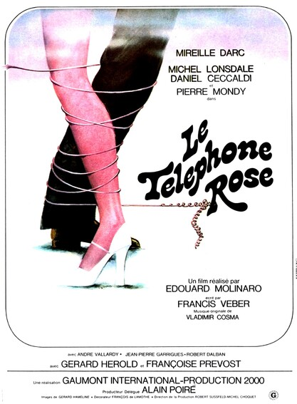 LE TELEPHONE ROSE - BOX OFFICE MIREILLE DARC 1975