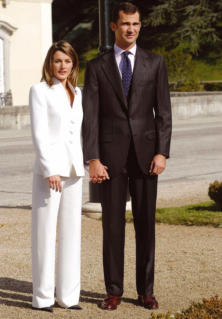 Letizia et le blanc