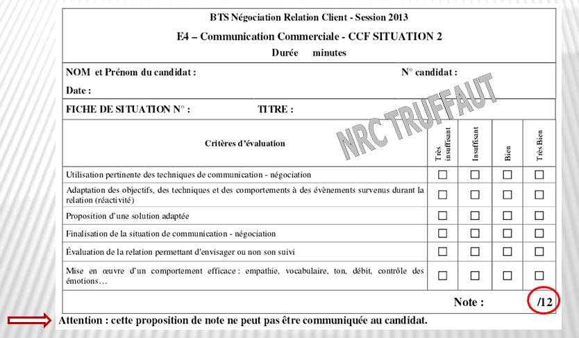 Bts Nrc L Epreuve E4 Communication Commerciale Bts Nrc