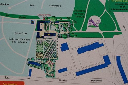 Arborétum Plan jardin