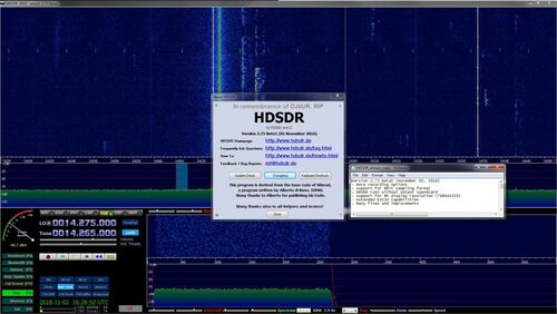 HDSDR publie une nouvelle version bêta