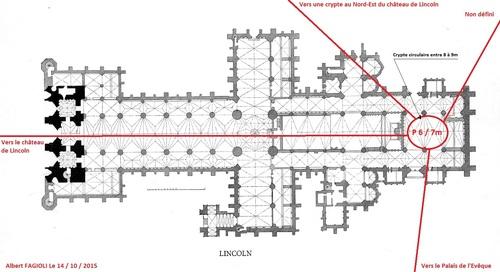 La crypte et les souterrains de la Cathédrale de Lincoln, le 14 / 10 / 2015. (Albert Fagioli)