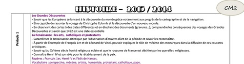 Programmations CM2 2013 / 2014
