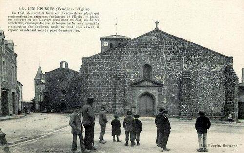 La crypte de l'eglise des Epesses....
